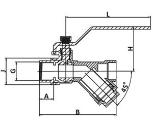 ball valve with strainer graph